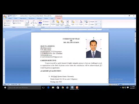How To Add Picture Resume And Cv Bangle How To Insert