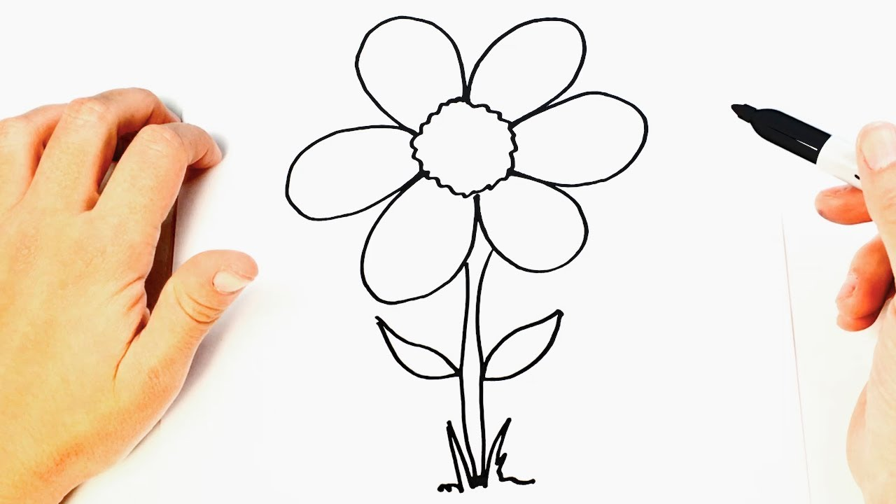 How to draw a beautiful flower youtube how to draw a beautiful flower izmirmasajfo