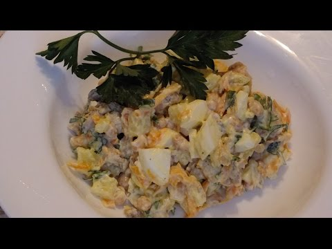 сытный салат из фасоли