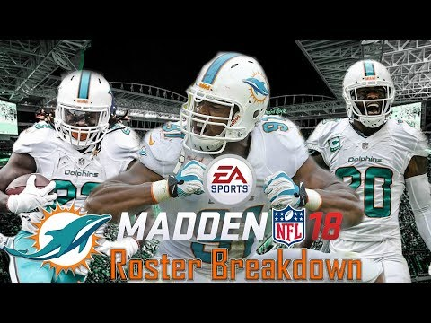 Madden 18 Official Ratings- Miami Dolphins