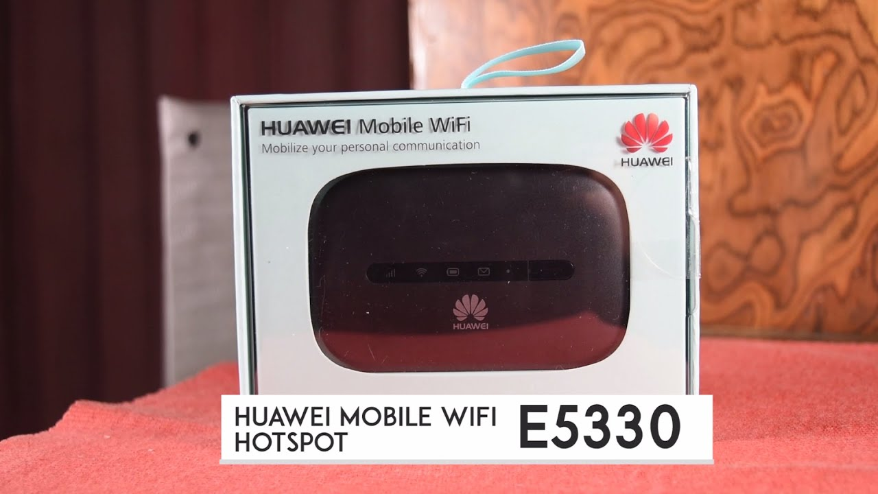 Huawei Mobile WiFi Hotspot E5330 Unboxing and Set Up