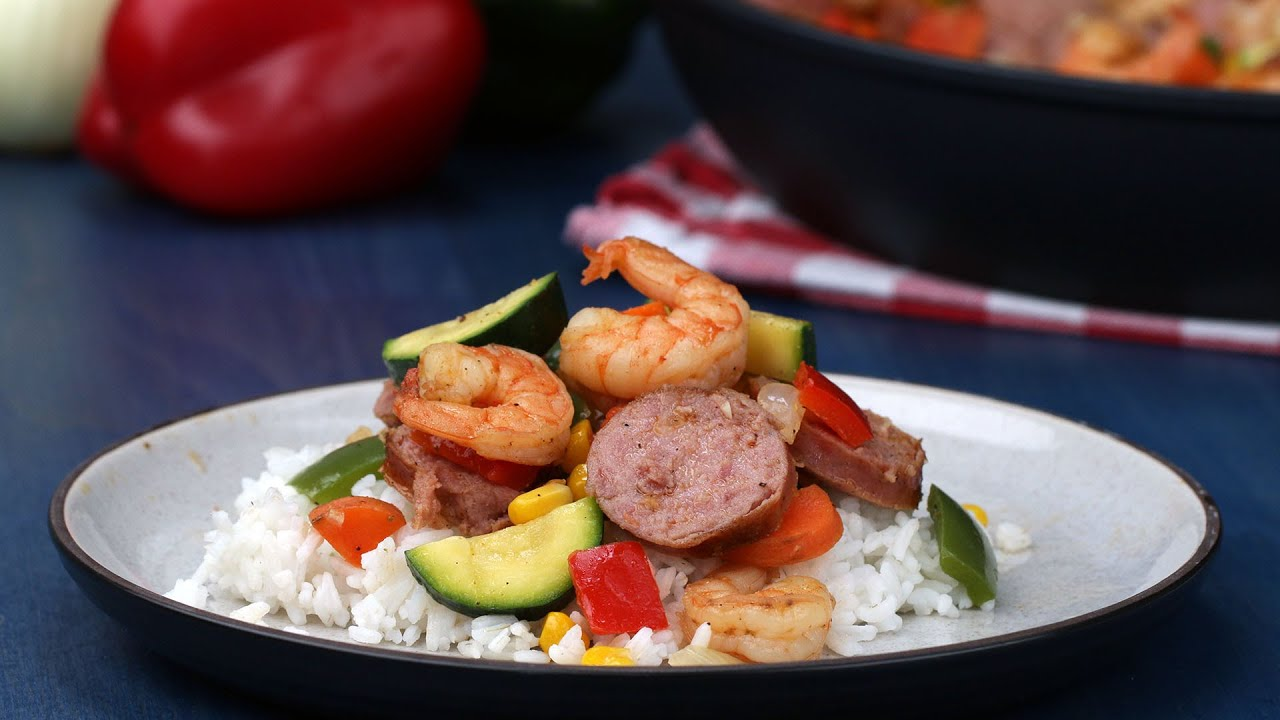 maxresdefault - Shrimp and Sausage Stir-Fry