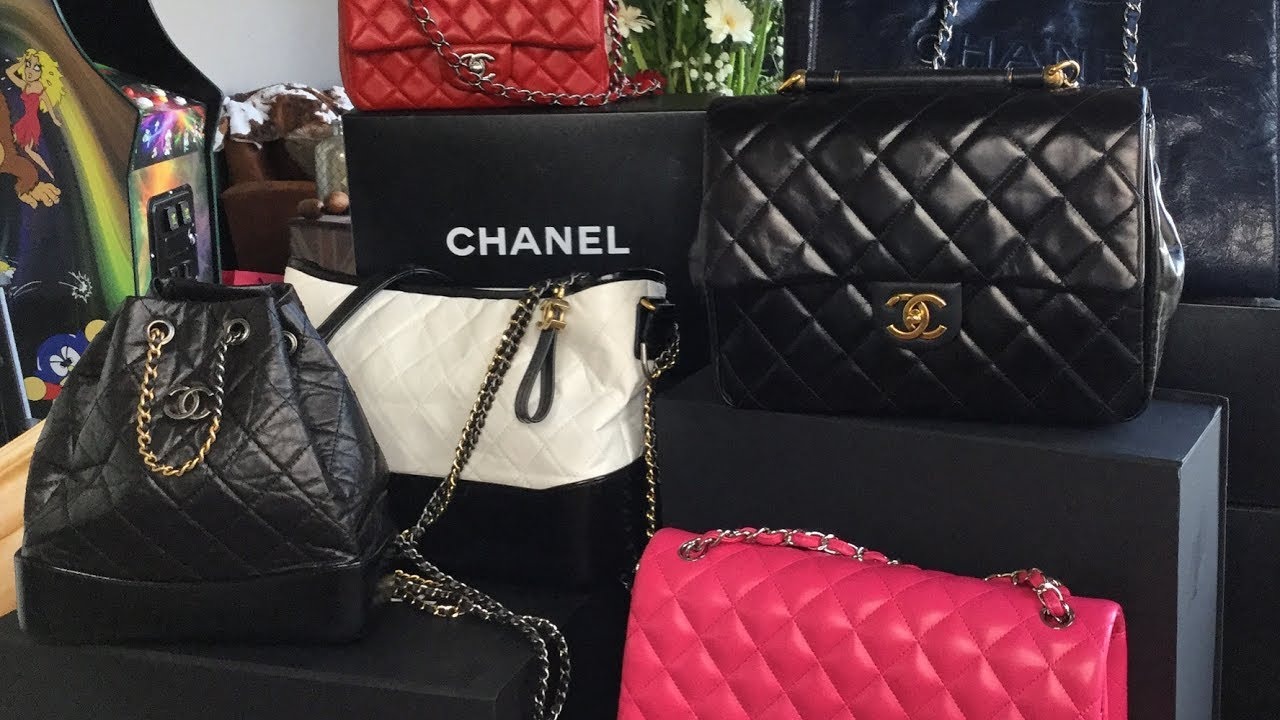 d7ed5e66bb59 CHANEL HANDBAG COLLECTION - YouTube