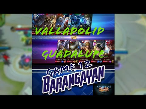 Mobile Legends Tournament Barangayan Series | Game 12 Full Game | Valladolid Vs Guadalupe