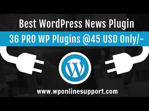 WP News And Scrolling Widgets - WordPress Plugin