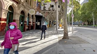 WALKING AROUND MELBOURNE CITY DURING COVID-19 LOCKDOWN