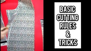 Suit/kameez/kurti cutting Very easy method step by step/ 5 minute basic cutting