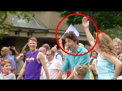 Canadian Prime Minister Justin Trudeau Got Smacked.... Vancouver Pride Parade | Gay Family Daily Fun