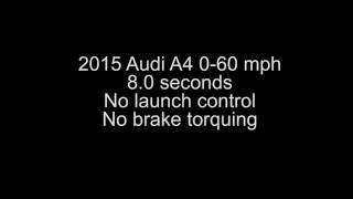 audi a4 0 60 mph