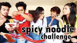 SPICY NOODLE CHALLENGE / ft. Sanket , Aashna , Tanzeel , Unnati | ARSHFAM