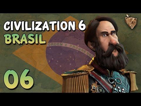 "Civilization 6 Brasil #06 ""Luta por distritos"" - Vamos Jogar Gameplay Português PT-BR"
