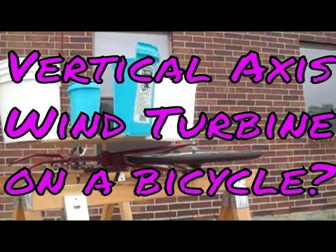 Gene Basler S Vawt Bicycle Wind Turbine Prototype Design