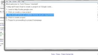 Tutorial: create a project on Google code by Tech Prevue