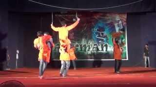 iit bhu aagman 2014 group dance mining applied