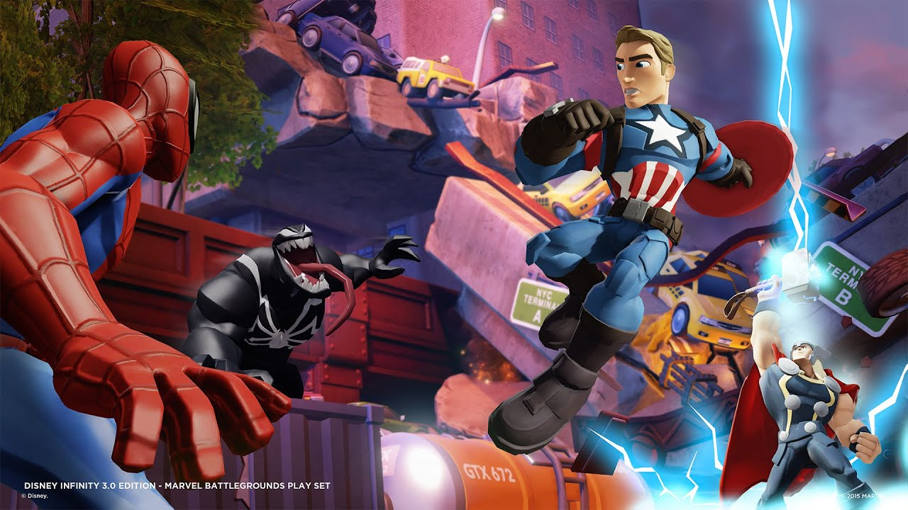 Disney Infinity 3 0 Marvel Battlegrounds Youtube