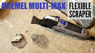 This video is about dremel multi max with flexible scraper bit. See...