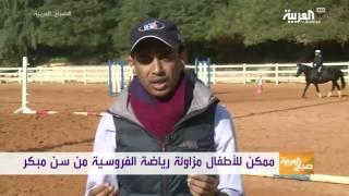 فارس سعودي يدرب ركوب الخيل عبر سناب شات