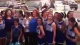 McCallum Homecoming Cheerleaders sings school song