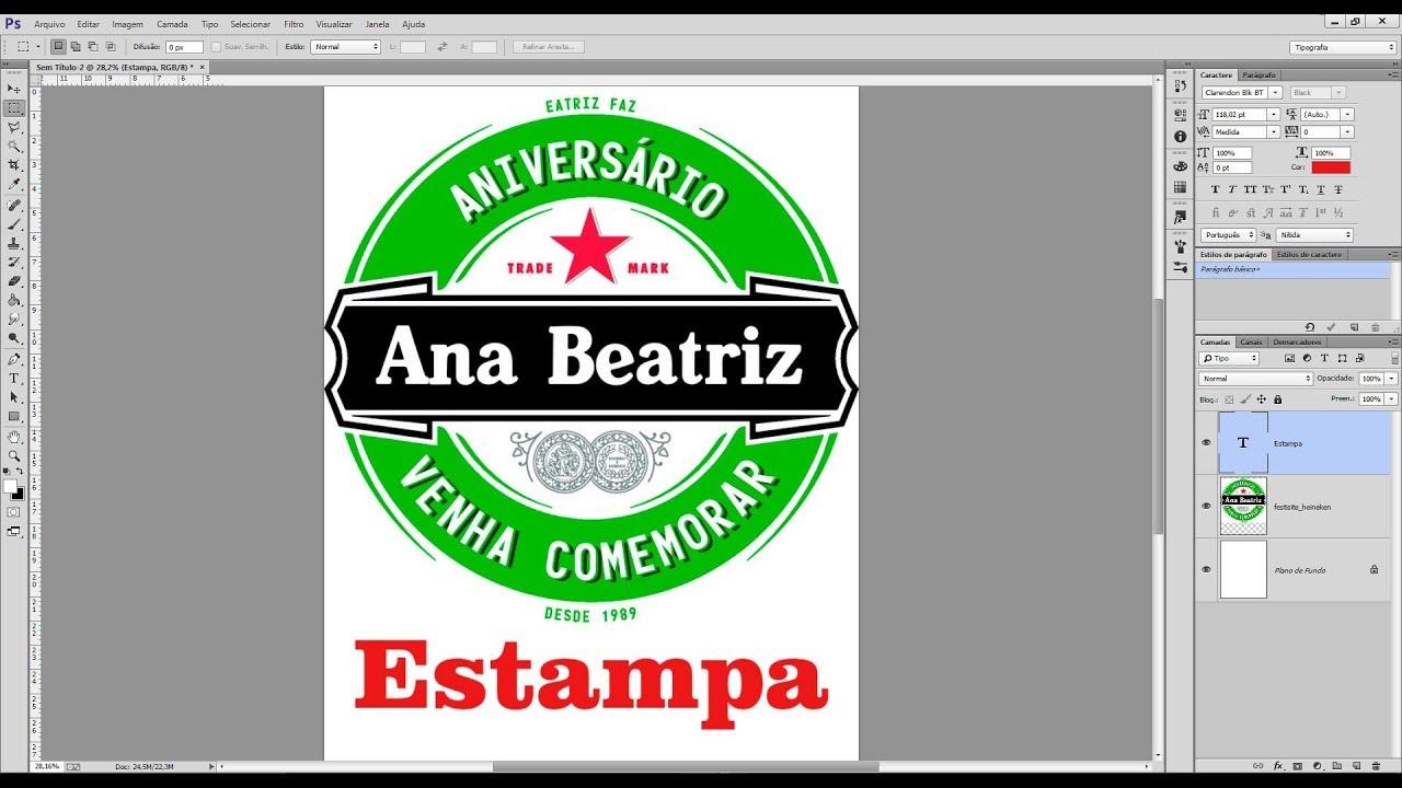 Tutorial Como Fazer Estampas Personalizadas Rotulo De Cerveja