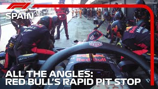All The Angles | Red Bull's Rapid Pit Stop | 2020 Spanish Grand Prix