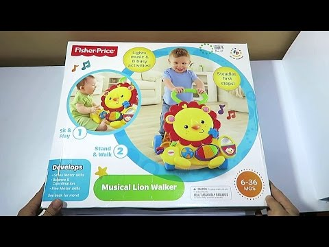 Unboxing Fisher Price Musical Lion Walker