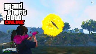 GTA 5 Funny Moments - RPG Glitch Sideways Launch & Flare Gun Fight!!! (GTA 5 Glitches)