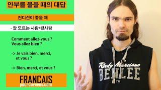 프랑스어 #14 인사와 안부에 대한 대답 - Ça va bien, et toi ? (기초)