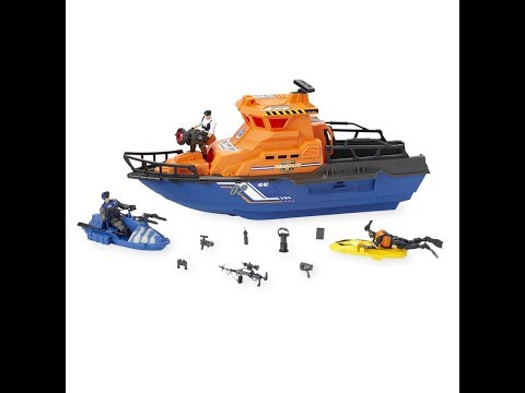 True Heroes Tactical Rescue Patrol Boat Set live Review!