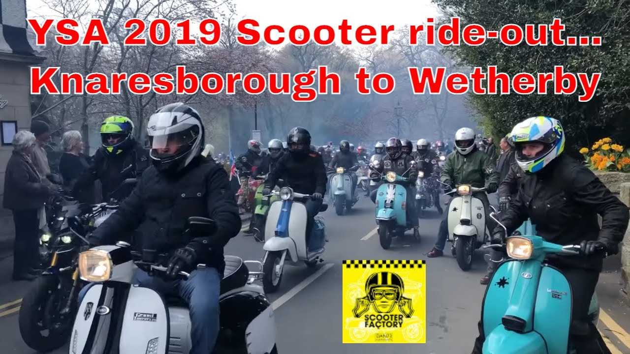 Scooter Ride-out: YSA Knaresborough - Wetherby 2019 Lambretta & Vespa. First ride out of the season!
