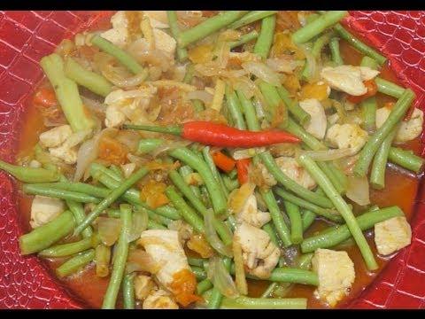 Paano magluto Sitaw Manok Recipe - Chicken & Green Beans Filipino Food - Tagalog Pinoy Cooking
