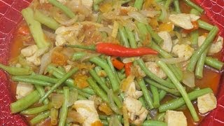 Sitaw Manok Recipe - Chicken & Green Beans Filipino Food - Tagalog Pinoy Cooking