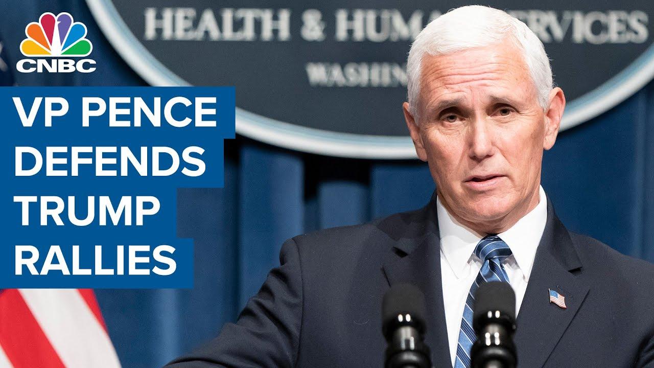 VP Mike Pence defends Donald Trump campaign rallies despite surge in coronavirus cases