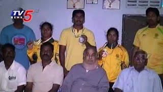Grand Welcome to Vizianagaram National Players : TV5 News