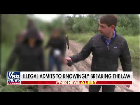 WATCH: Griff Jenkins Witnesses Illegal Immigrants' Attempt to Cross Border in Texas