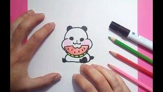 Como dibujar un oso panda paso a paso 6   How to draw a panda 6