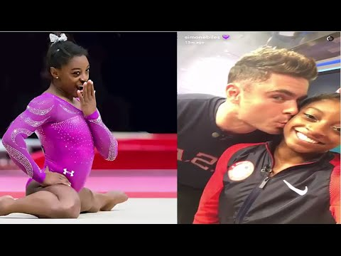 Simone Biles Gets A Kiss From Zac Efron at Rio Olympics 2016