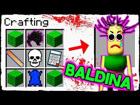 Minecraft BALDI - How To Summon BALDINA In Crafting Table!