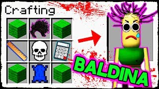 Minecraft BALDI - How to Summon BALDINA in Crafting Table! thumbnail