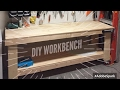 DIY WOOD WORKBENCH - HOW TO BUILD A WOOD TOOL WORKBENCH FOR YOUR GARAGE