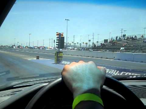 In Car #2 e34 525i Wagon Vs. Mercedes 300e w124 Auto Club Dragway 6-4-11
