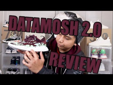 6b9499866 SNS Adidas NMD R1 Datamosh 2.0 Maroon Review!! - YouTube