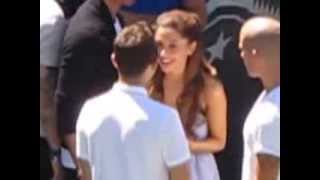 Ariana Grande and Nathan Sykes dancing to