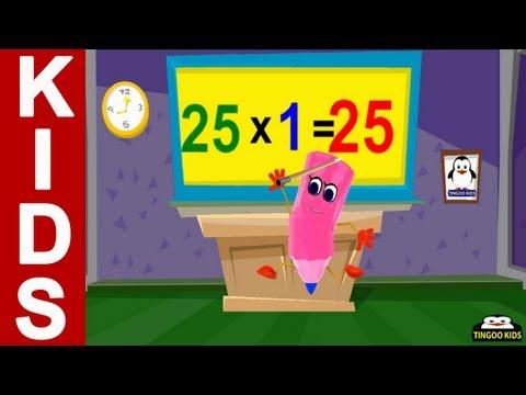 Tutorial   25 Times Table   Kids Math Education Online (English Language)