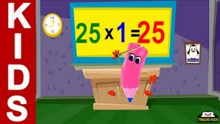 Tutorial | 25 Times Table | Kids Math Education Online (English Language)