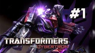 Скачать Transformers War For Cybertron Walkthrough Part 1 Chapter 1 Dark Energon Let S Play XBOX PS3 PC