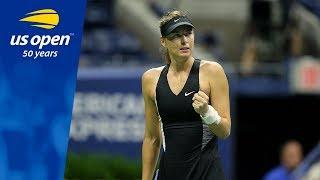 Maria Sharapova Owns Arthur Ashe Stadium, Defeating Sorana Cirstea