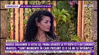 Marius Dragomir şi soţia lui, prima apariţie la TV după ce s-au cununat religios!