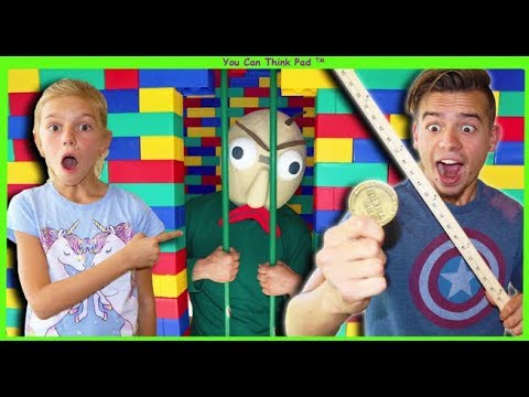 Baldi's Ruler Has POWERS! | Baldi Goes To JAIL in Giant LEGO FORT!
