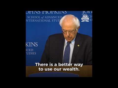 Bernie Sanders warnt vor Krieg und dem Einfluss des Militärisch Industriellen Komplexes