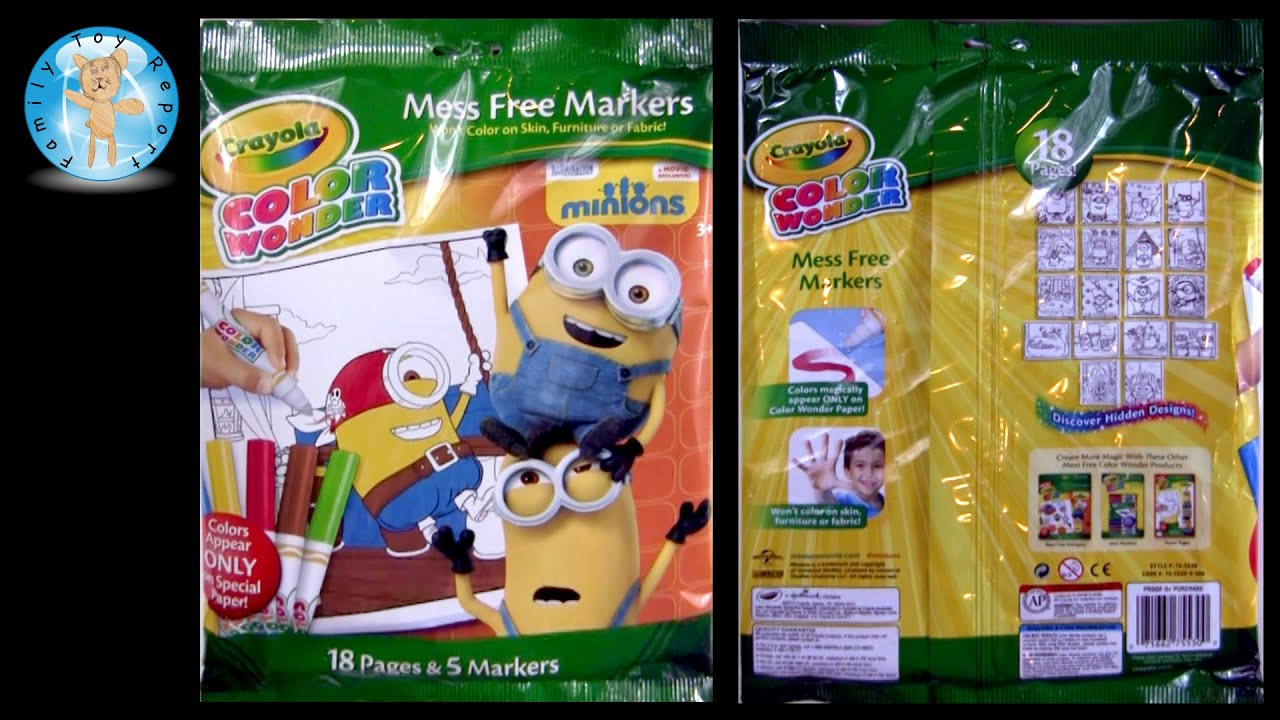 Crayola Color Wonder Minions Movie Coloring Pages Mess Free ...